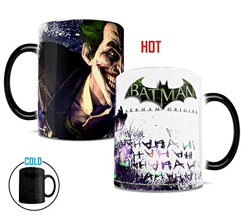 Morphing Mugs DC Comics Batman Arkham Origins The Joker Heat Reveal Ceramic Coffee Mug - 11 Ounces -