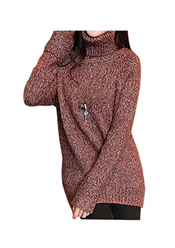 ARJOSA Knitted Stretchy Turtleneck Pullover