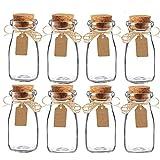 Awtlife 15pcs Vintage glass Milk Favor Jar with Cork Lids for wedding party favor(3.4oz)