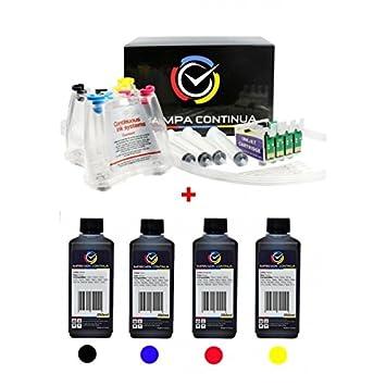 CISS para cartuchos Epson con tintas 4x250ml, serie T1291 ...