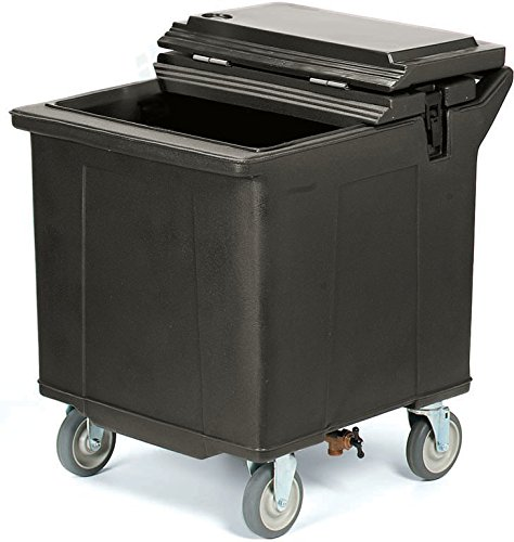 Carlisle IC225403 Cateraide Mobile Ice Bin Caddy, Portable Beverage Merchandiser, 125 Pound Capacity, 4 Swivel Casters, Black by Carlisle