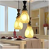 Modern LED Pendant Light Chandelier LED Pendant Lighting Apply to Contemporary Living Room Bedroom Dining Room Chinese Chandelier Three-Painted Ceramic Dining Chandelier lamp Chandelier Bedroom
