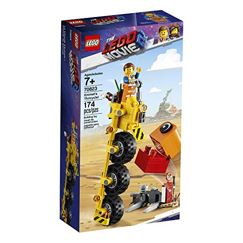LEGO The LEGO Movie 2 Emmet's Thricycle! 70823 Three-Wheel Toy Bicycle Action Building Kit for Kids (173 Pieces) (Discontinued by Manufacturer)
