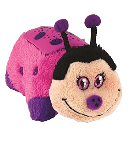 1990-now Dream Lites Pillow Pets Pink Ladybug Beautiful In Colour Electronic, Battery & Wind-up