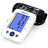 MeasuPro Blood Pressure Monitor with Upper Arm Cuff and Extra Large Screen Digital Screen, BP Machine Fits Standard and Large Arms, Tracker and Alarm Clock