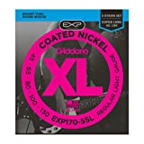 D'Addario EXP170-5SL Coated 5-String Bass Guitar Strings, Light, 45-130, Super Long Scale