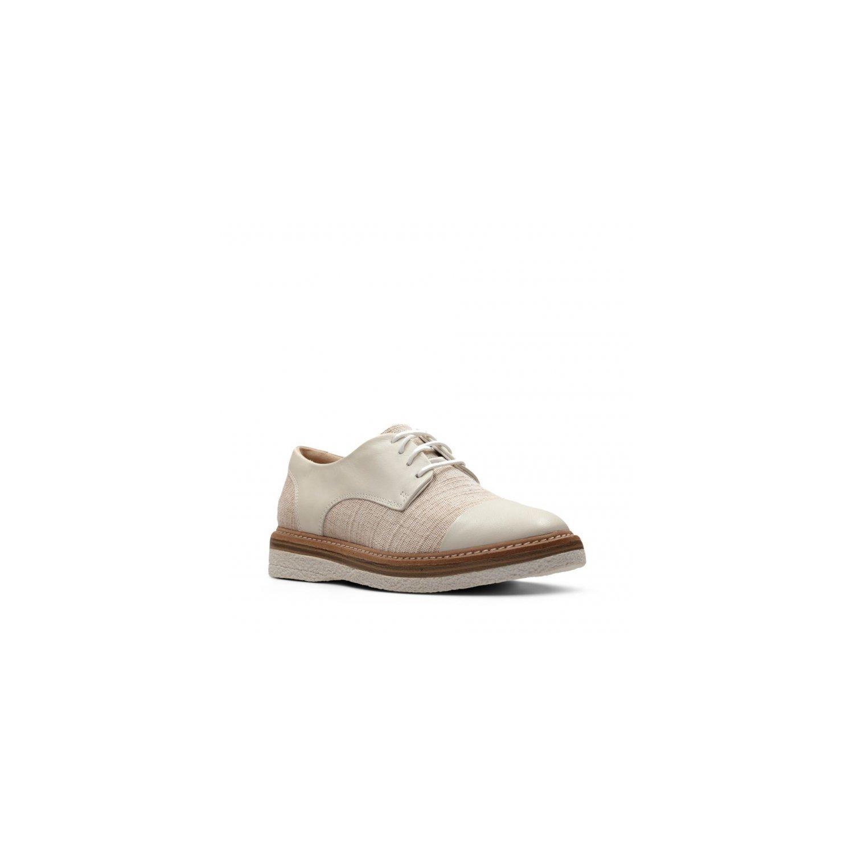 Zapatos de Mujer Clarks 26132696 Zante White Canvas 37.5 EU