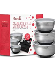 Stainless Steel Mixing Bowls With Lids - 3 Pcs Free Chef Apron