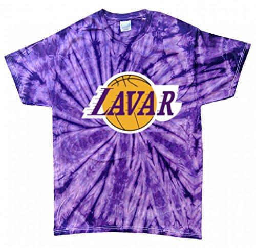 """The Silo TIE DYE PURPLE Los Angeles LAVAR """"Logo"""" T-Shirt ADULT"""