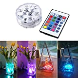WisHome Waterproof Battery Operated Submersible LED
