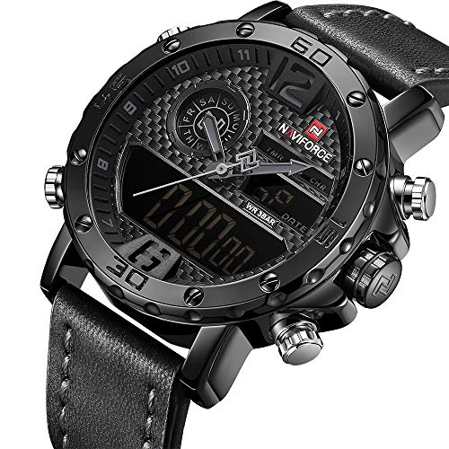 Men Casual Sport Watch with Date and Week Man Chronograph Waterproof Dual Display Wrist Watch …