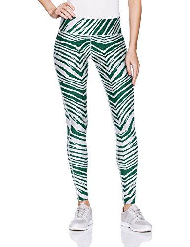 Zubaz Unisex Casual Printed Athletic Lounge Leggings, Green/White, -