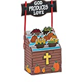Bargain World 3D Faith Fall Market Stand Craft Kit (With Sticky Notes)