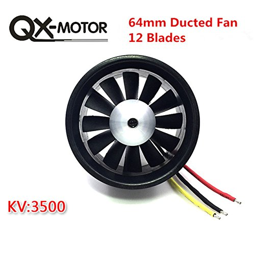 Toy, Play, Fun, QX_MOTOR DIY EDF Ducted Airplane Fan 30mm / 55mm / 64mm / 70mm / 90mm with Brushless Motor, Children, Kids, Game