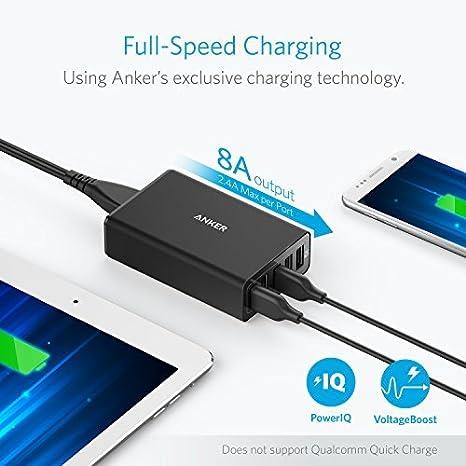 Anker 40W 5-Port USB Wall Charger, PowerPort 5 for iPhone XS / XS Max / XR / X / 8 / 7 / 6 / Plus, iPad Pro / Air 2 / mini, Galaxy S9 / S8 / Edge / ...