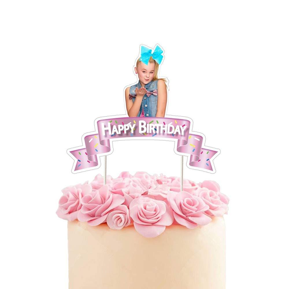 Strange Jojo Cake Topper Birthday Party Decoration Toppers Pink Ribbon Funny Birthday Cards Online Benoljebrpdamsfinfo