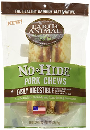 Earth Animal No Hide Pork Chews 7-inch 2-pack Dog Treats