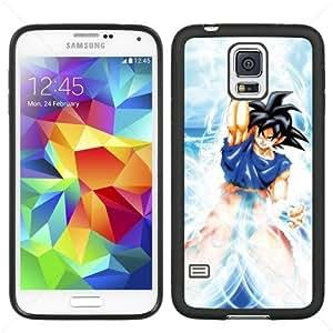 Dragon Ball Manga Comic Slim SON GOKU Samsung Galaxy S5 SV I9600 TPU Soft Black or White case (Black) by icecream design