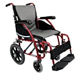 Karman Healthcare S-115-TP Ergonomic Ultra Lightweight Manual Wheelchair, Pearl Silver, 18 Inches Seat Width