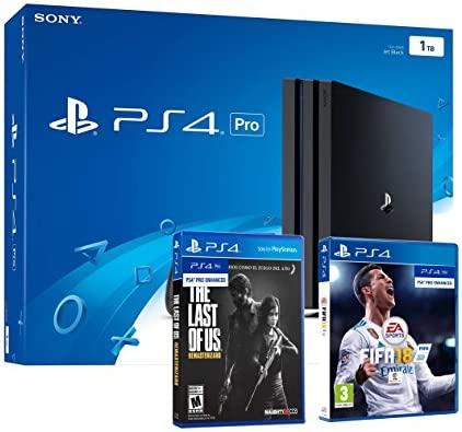 PS4 PRO 1TB Playstation 4 - PACK 2 Juegos 4K - FIFA 18 + The ...