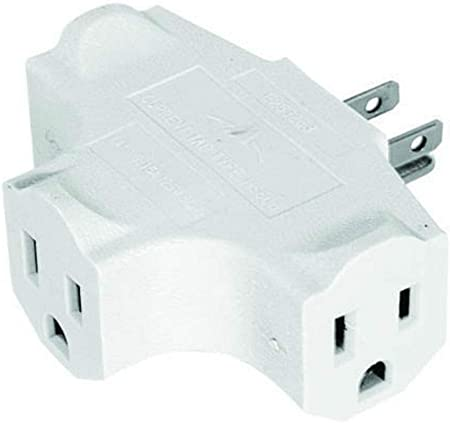 Grounded 3-Way Electric Adapter 3 Outlet AC Wall Plug Triple Power Splitter 2