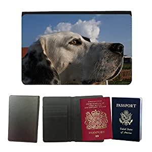 Passeport Voyage Couverture Protector // M00156177 Perro amigo animal mascotas Ver Ojos // Universal passport leather cover