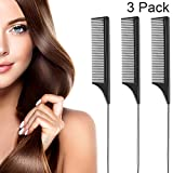 3 Pack Tail Comb Black