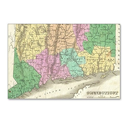 CafePress - Vintage Map Of Connecticu - Postcards (Package of 8), 6