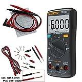 Rockrok Digital MultimeterAN8001 6000 Counts AC/DC Ammeter Voltmeter Ohm Meter