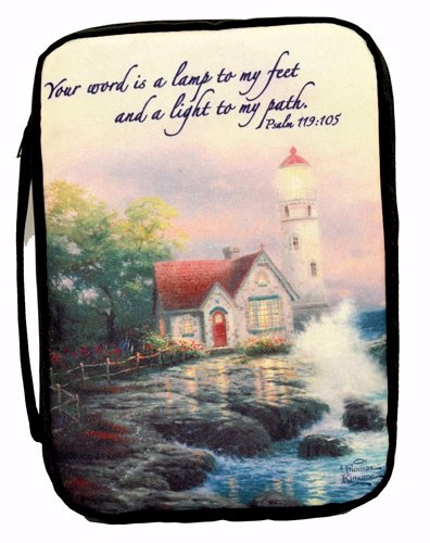 Beacon Of Hope Lighthouse-X Large-Navy (Oct) (Thomas Kinkade Bible Cover)