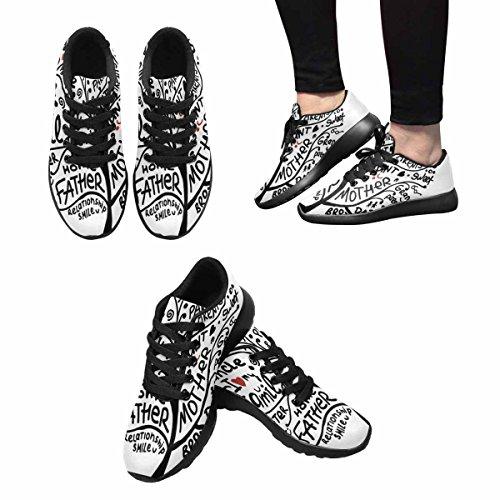 Interestprint Femmes Jogging Running Sneaker Léger Aller Facile Confort De Marche Sport Chaussures De Course Multi 7