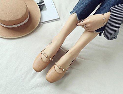 Zapatos Muelle con Casual Retro Marr De 37 La XZGC Boca EU Calzado Un Superficial Grueso Mujer De OXdyacP