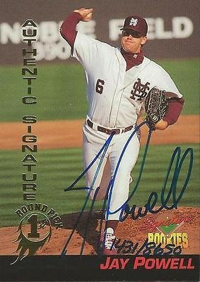 (Jay Powell 1994 Signature Rookies Certified Autograph Card #36 1431/8650)
