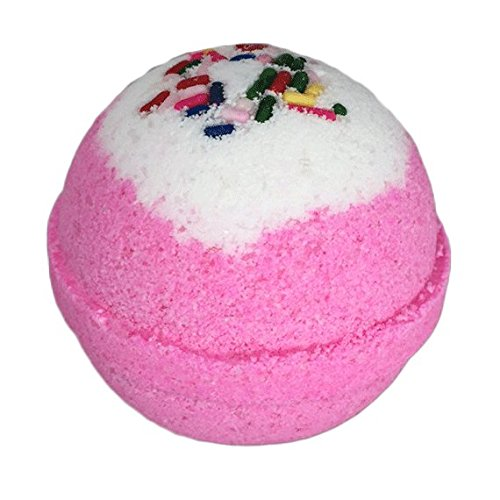 Birthday Cake BUBBLE Bath Bomb in Gift Box - By Two Sisters Spa - Made in the USA - Cupcake Bath Bomb