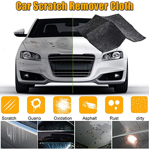 YOOHE Multipurpose Car Scratch Remover Cloth, Magic Paint Scratch Removal, Car Scratch Repair Kit for Repairing Car Scratches and Light Paint Scratches Remover Scuffs on Surface (Best Wipe On Clear Coat For Cars)