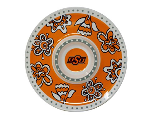 NCAA Melamie Chip and Dip Tray (Oklahoma State Cowboys)