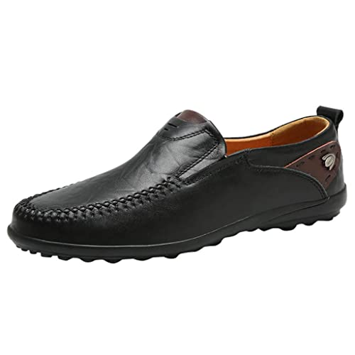 83d001d974d5 KESEELY Leather Men Doug Shoes Set Leisure Men Business Round Toe Peas Shoes  Loafers Low Ventilation