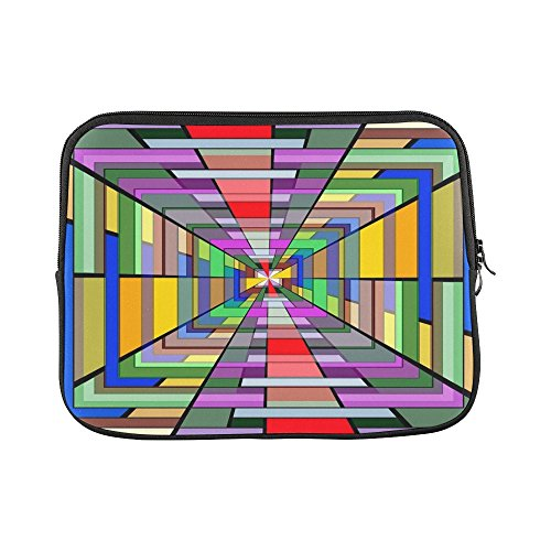 (Design Custom Art Vanishing Point Vortex 3D Abstract Pattern Sleeve Soft Laptop Case Bag Pouch Skin for MacBook Air 11