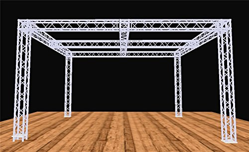 - Global Truss 20 Foot x 20 Foot Booth Display Truss System w/ Cross Beam