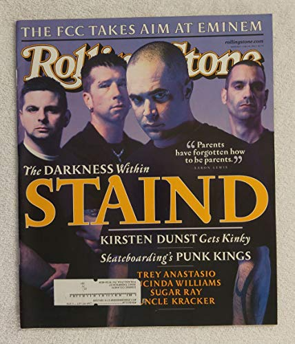 Aaron Lewis, Mike Muschok, Johnny April, Jon Wysocki - STAIND - Rolling Stone Magazine - #873 - July 19, 2001 - Skateboarding's Punk Kings, The FCC Takes Aim at Eminem, Trey Anastasio articles ()