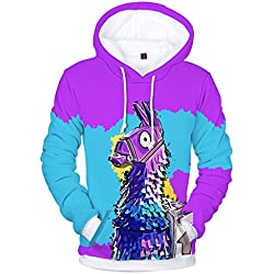 XIAOMEI New Unisex 3D Printed Fortnite Men Casual Fleece Hoodie Sweatshirts