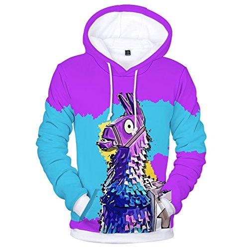XIAOMEI New Unisex 3D Printed Fortnite Men Casual Fleece Hoodie Sweatshirts