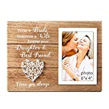 VILIGHT Mother of Bride Picture Frame - Wedding Gift for Mom of Bride to Be - 4x6 Photo