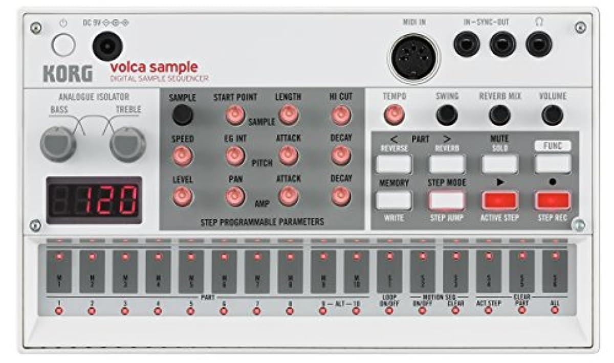 [해외] KORG 디지털 샘플러 VOLCA SAMPLE 신디사이저 전지 구동 스피커 내장 헤드폰 사용가 어디에서라도 쓸만한 콤팩트 사이즈