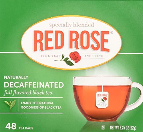 Tea Decaffeinated Tea Red - Red RoseTea Bags Naturally Decaffeinated Premium Blended, 48 ct