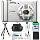 Sony Cyber-shot DSC-W800 Digital Camera (Silver) + 32GB Pixi-Basic I3ePro Accessory Bundle