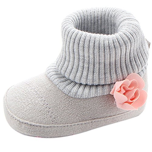 Infant Toddler Girl Boots Lovely Flower Knitted Baby Girl's Crib Shoes First...