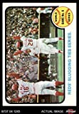 1973 Topps # 208 1972 World Series - Game #6 - Reds' Slugging Ties Series Johnny Bench / Denis Menke / Bobby Tolan Oakland / Cincinnati Athletics / Reds (Baseball Card) Dean's Cards 7 - NM Athletics / Reds