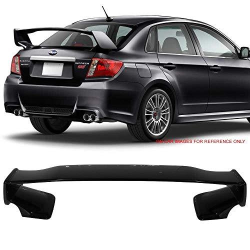 Pre-Painted Trunk Spoiler Fits 2008-2014 Subaru WRX 2008-2011 Impreza STI | ST Style Painted Obsidian Black Pearl #32J ABS Rear Wing Lid Boot by IKON MOTORSPORTS