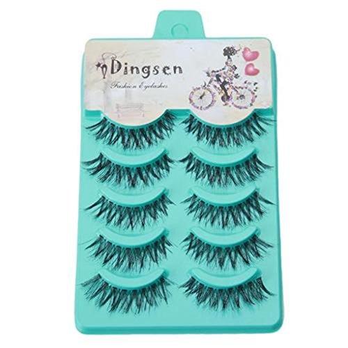 UNKE 5 Pair Pop Makeup Crisscross False Eyelashes Lashes Voluminous Eye Lashes ()